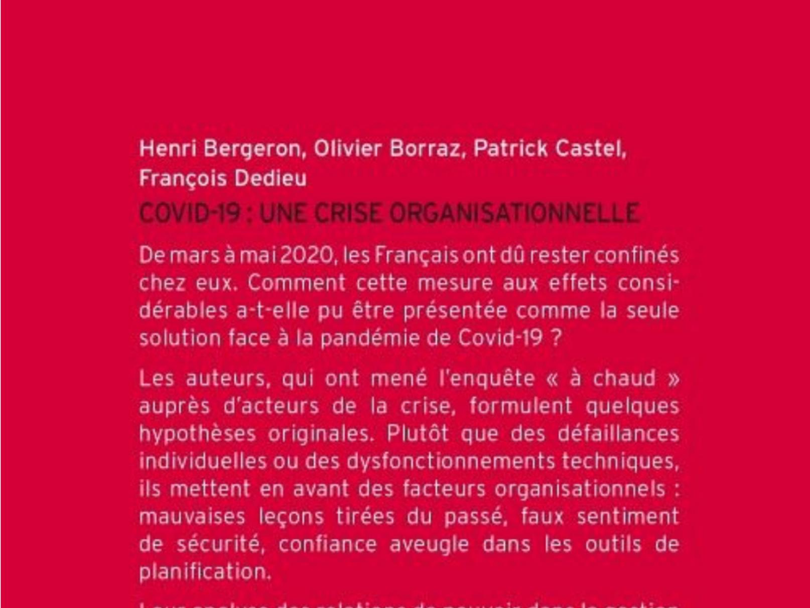 """CIPE.E.CLASS N° 4 de SANTE PUBLIQUE PARTAGEE en PACA EST : """"Covid 19, une crise organisationnelle"""""""